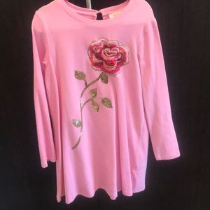 Kate Spade Girls embroidered pink dress.
